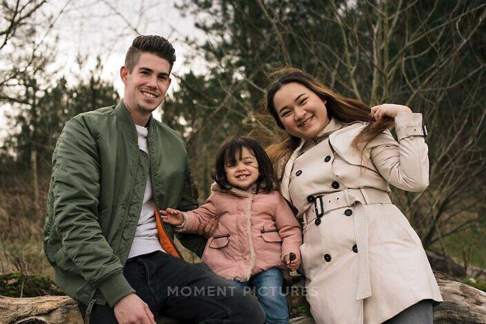 Vrolijk familieportret