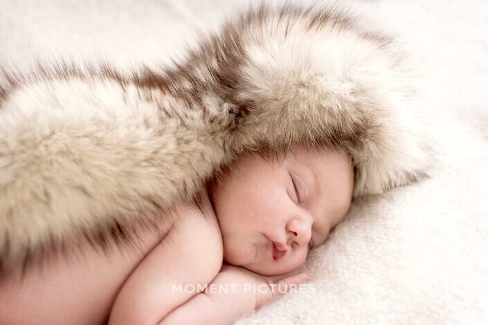Fotoshoot pasgeboren baby portret